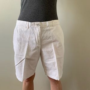 GAP White Linen Shorts